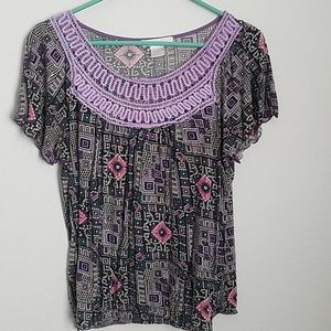 Knit top, blouse